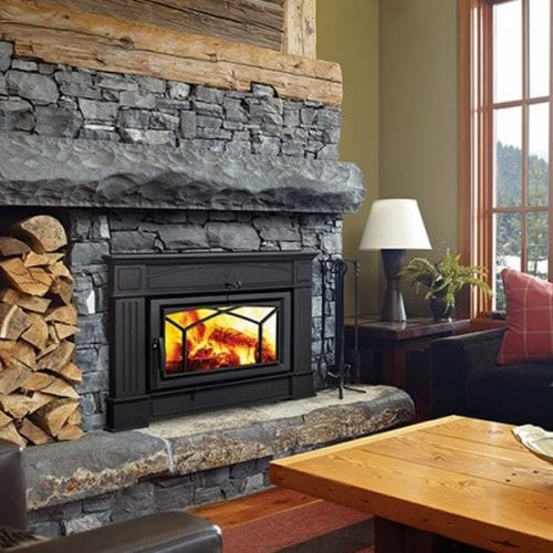 This hybrid wood insert by Hampton completes the look of any room – with modern technology and traditional design; you get the best of both worlds – without sacrificing style or efficiency. The HI400 is the next generation of wood inserts, with the ability to heat homes up to 2,600 sq ft while meeting strict EPA standards.